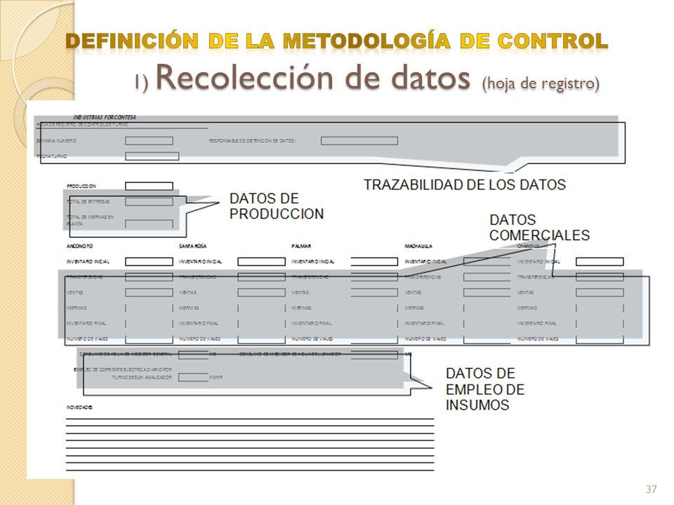 DEFINICIÓN DE LA METODOLOGÍA DE CONTROL