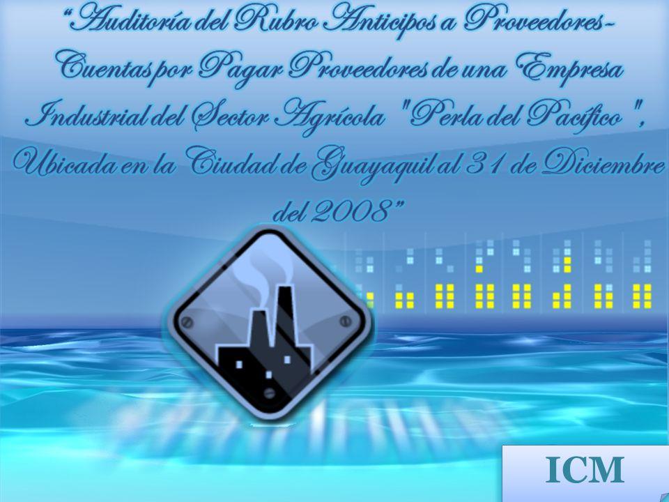 Auditoría del Rubro Anticipos a Proveedores-Cuentas por Pagar Proveedores de una Empresa Industrial del Sector Agrícola Perla del Pacífico , Ubicada en la Ciudad de Guayaquil al 31 de Diciembre del 2008