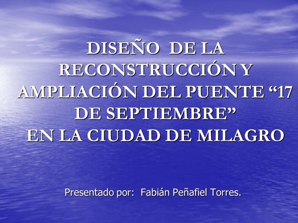 Presentado por: Fabián Peñafiel Torres.
