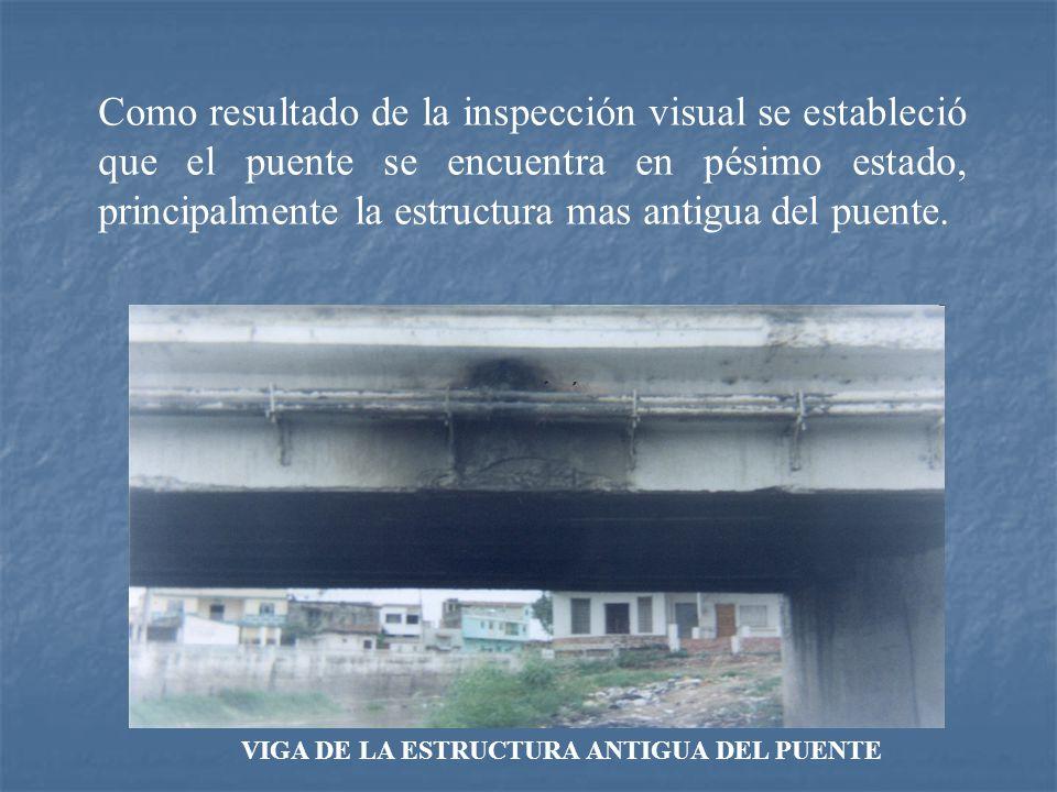 VIGA DE LA ESTRUCTURA ANTIGUA DEL PUENTE