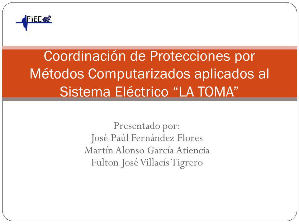 Coordinación de Protecciones por Métodos Computarizados aplicados al Sistema Eléctrico LA TOMA (INTERAGUA)