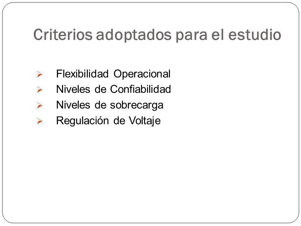 Criterios adoptados para el estudio