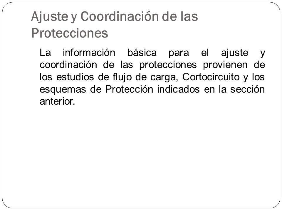 Ajuste y Coordinación de las Protecciones
