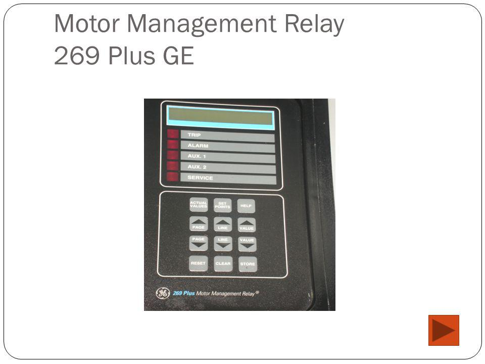 Motor Management Relay 269 Plus GE