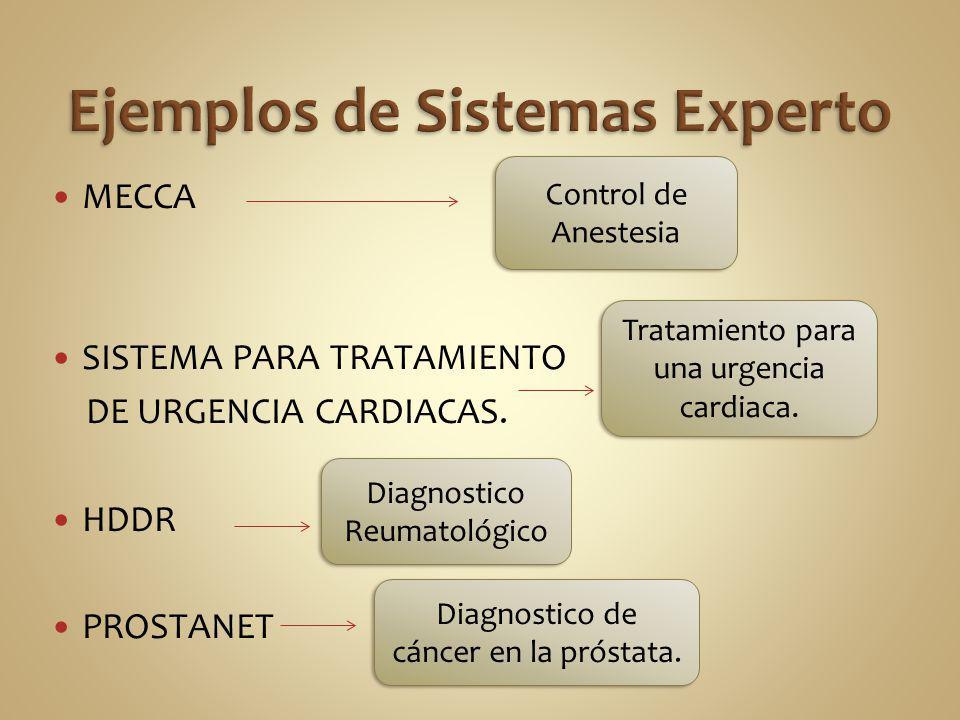 Ejemplos de Sistemas Experto
