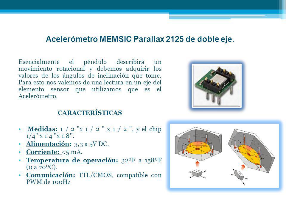 Acelerómetro MEMSIC Parallax 2125 de doble eje.