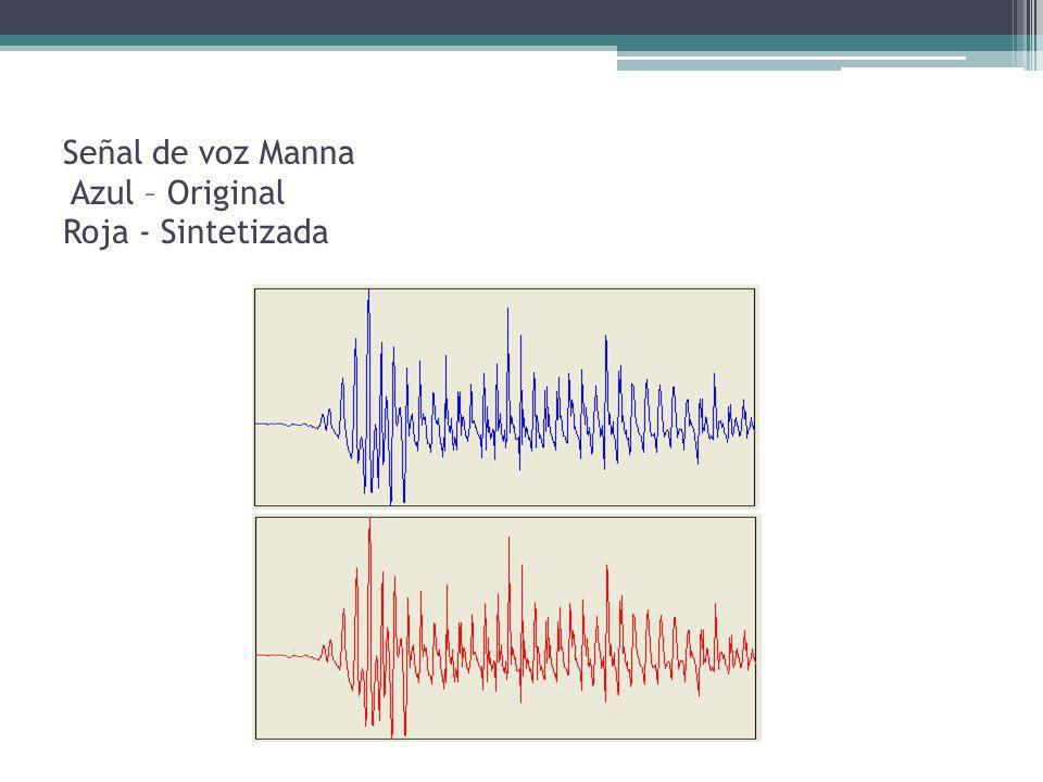 Señal de voz Manna Azul – Original Roja - Sintetizada