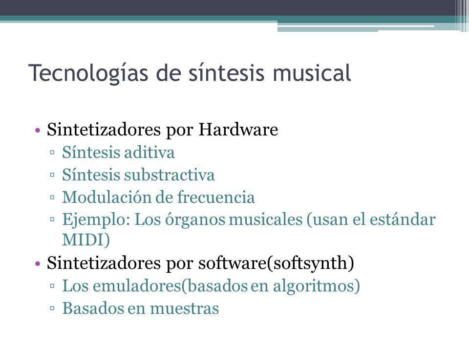 Tecnologías de síntesis musical