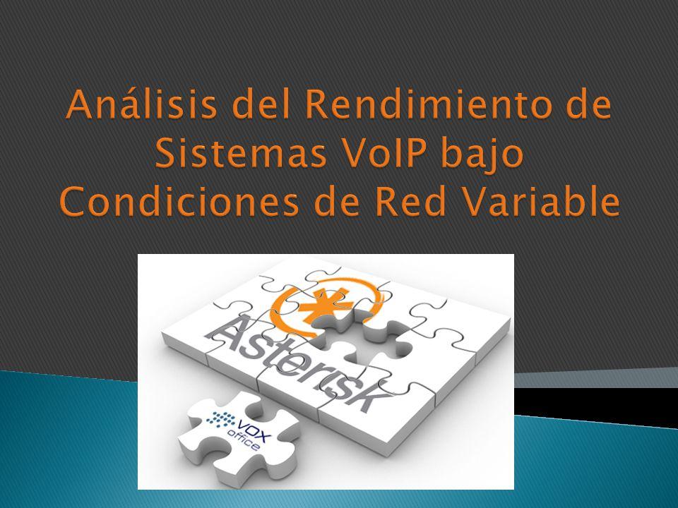 Análisis del Rendimiento de Sistemas VoIP bajo Condiciones de Red Variable