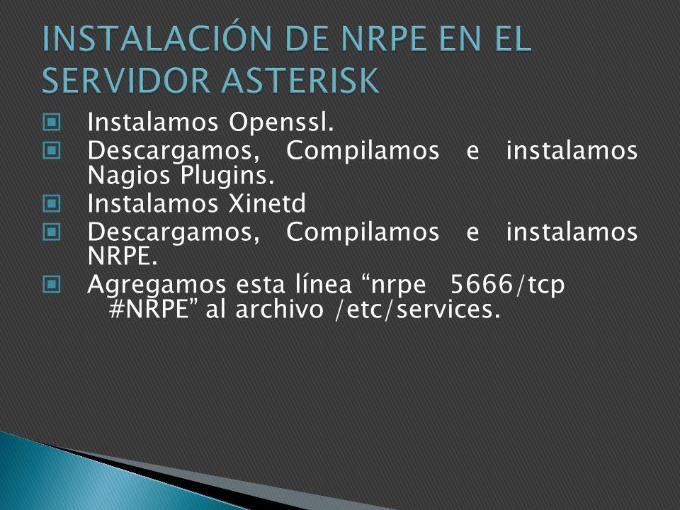 INSTALACIÓN DE NRPE EN EL SERVIDOR ASTERISK