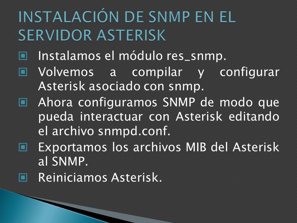INSTALACIÓN DE SNMP EN EL SERVIDOR ASTERISK