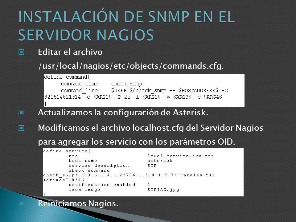 INSTALACIÓN DE SNMP EN EL SERVIDOR NAGIOS