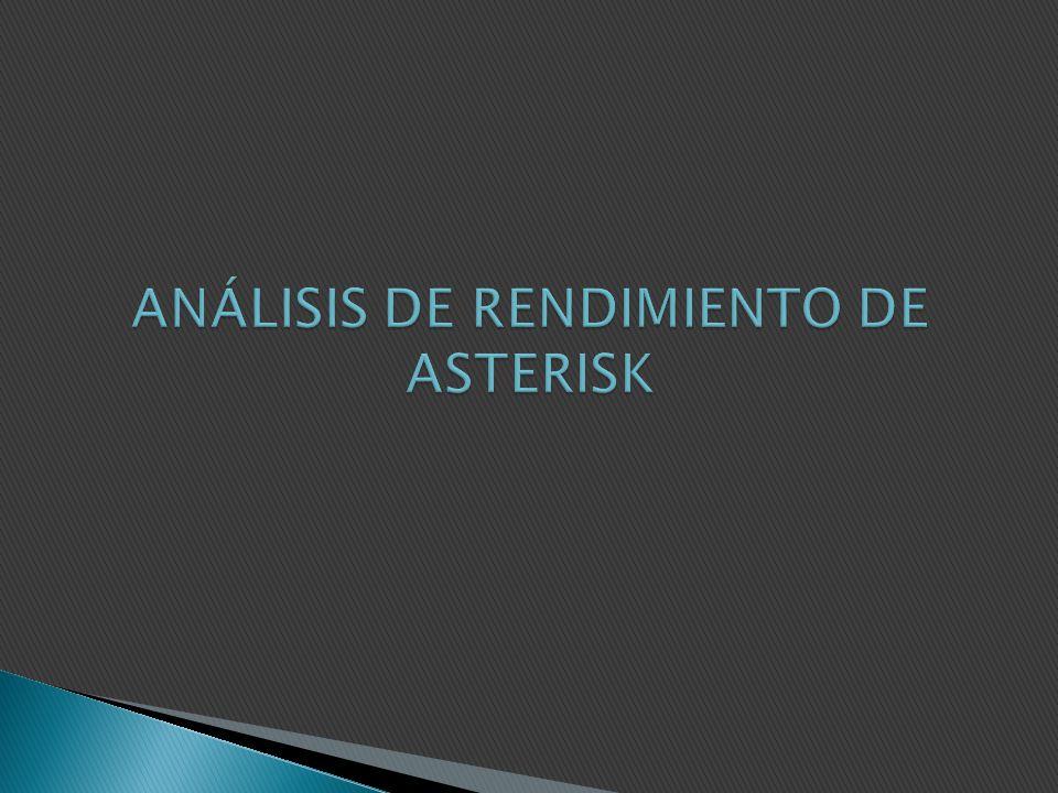 ANÁLISIS DE RENDIMIENTO DE ASTERISK