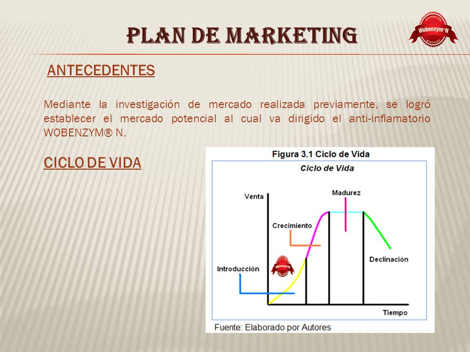 PLAN DE MARKETING ANTECEDENTES CICLO DE VIDA