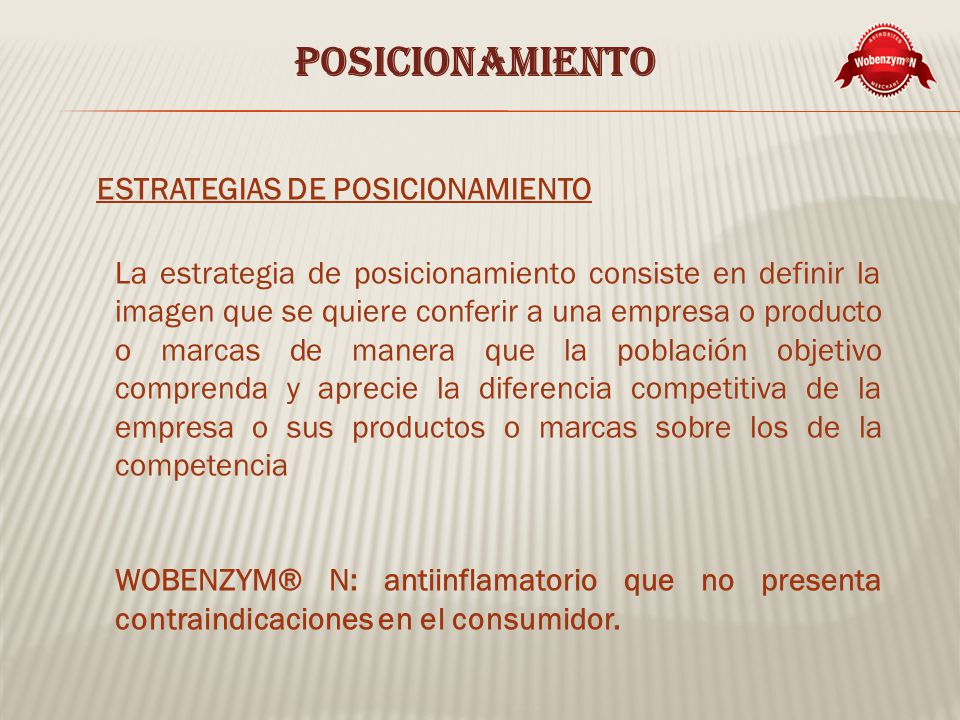 POSICIONAMIENTO ESTRATEGIAS DE POSICIONAMIENTO