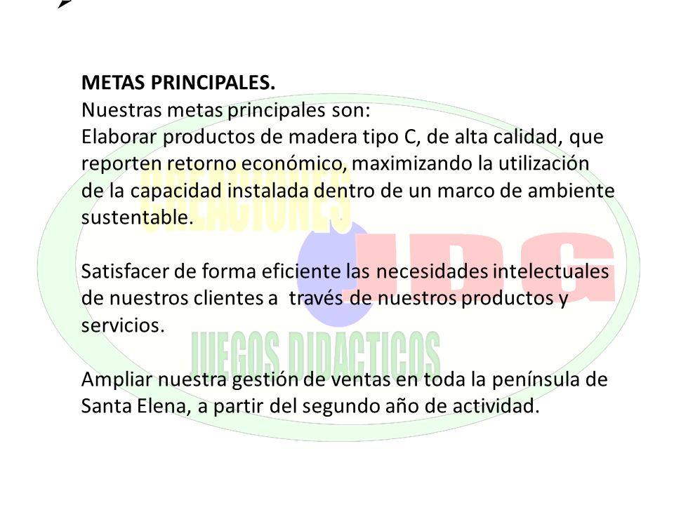 METAS PRINCIPALES.