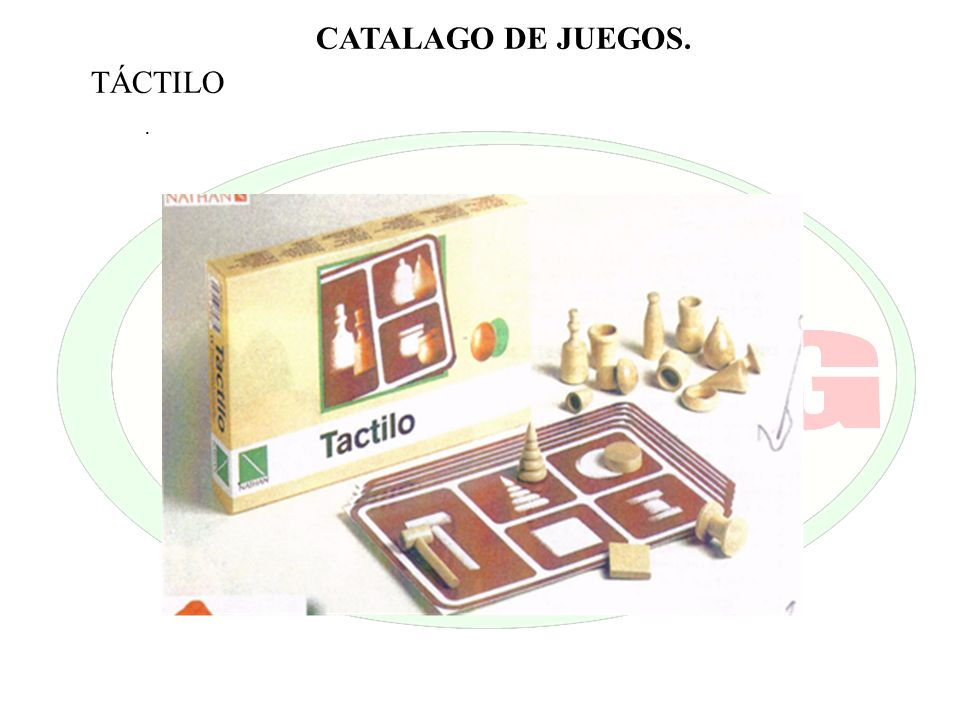 CATALAGO DE JUEGOS. TÁCTILO .