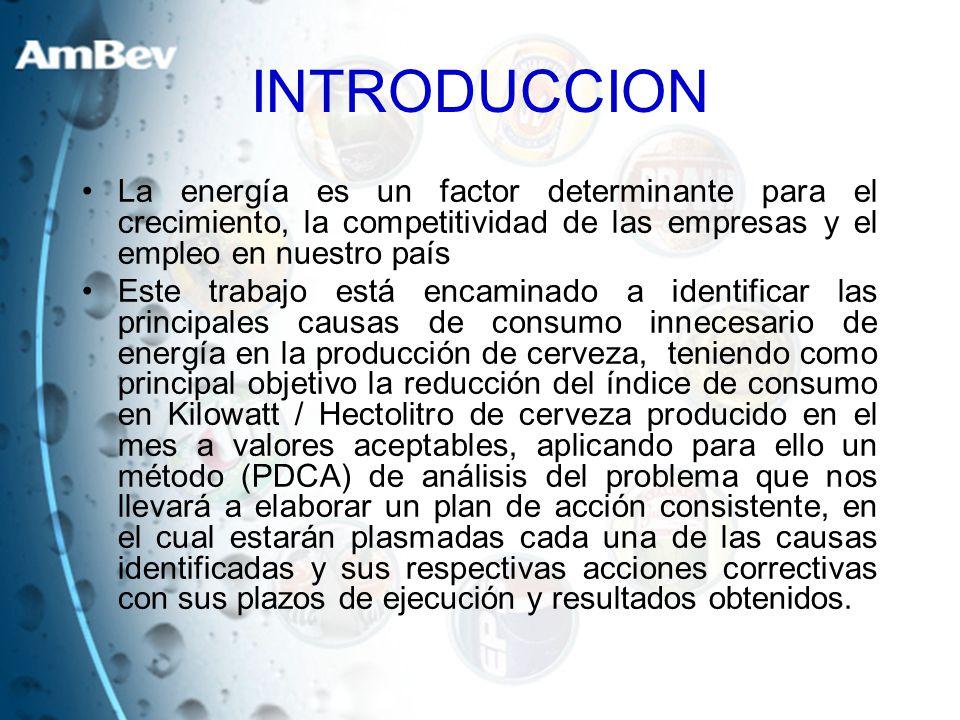 INTRODUCCION La energía es un factor determinante para el crecimiento, la competitividad de las empresas y el empleo en nuestro país.