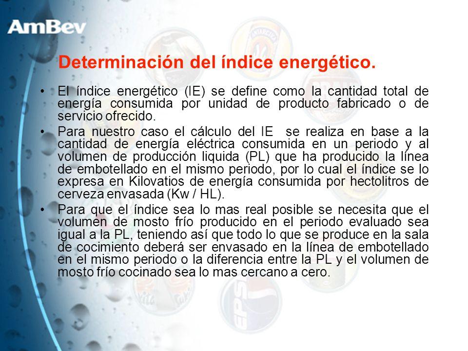 Determinación del índice energético.