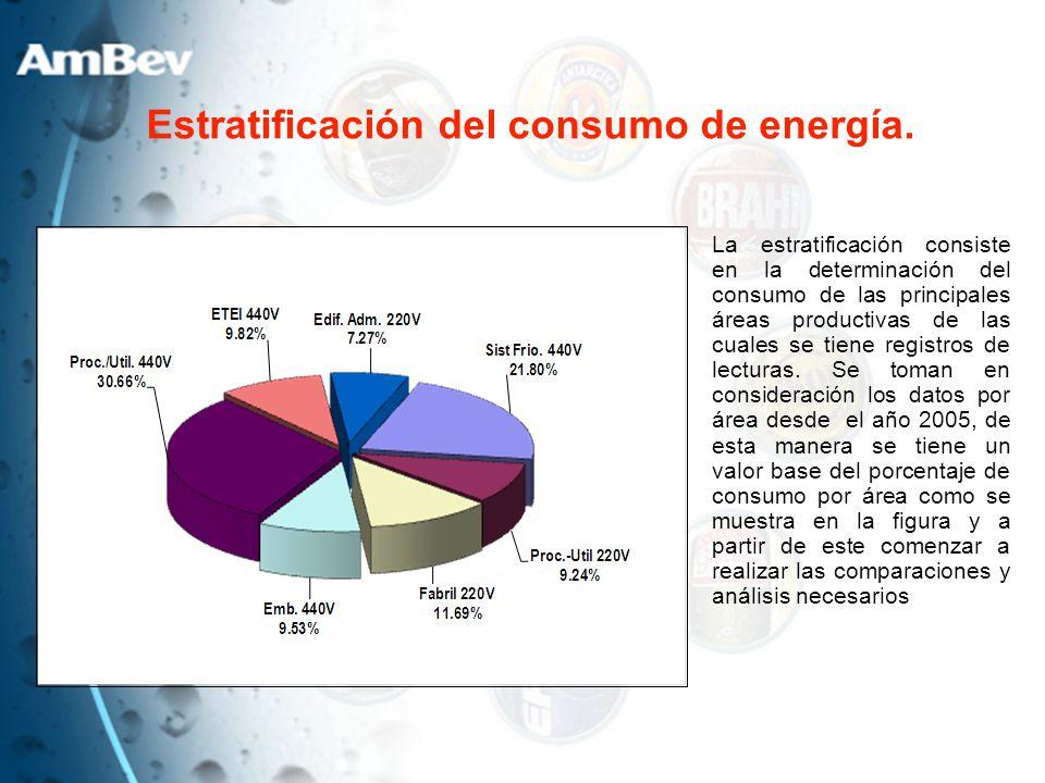 Estratificación del consumo de energía.