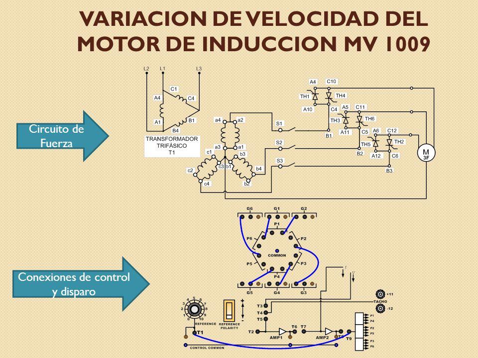 VARIACION DE VELOCIDAD DEL MOTOR DE INDUCCION MV 1009
