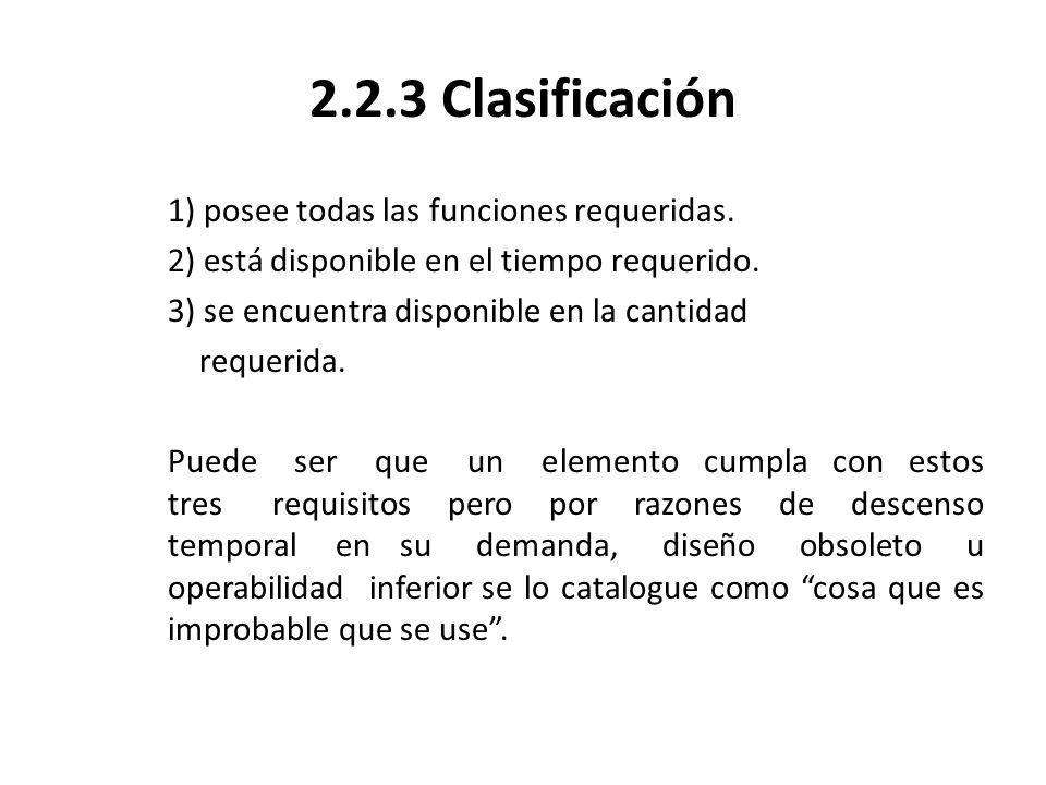 2.2.3 Clasificación