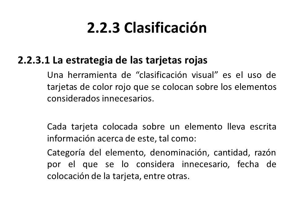 2.2.3 Clasificación 2.2.3.1 La estrategia de las tarjetas rojas