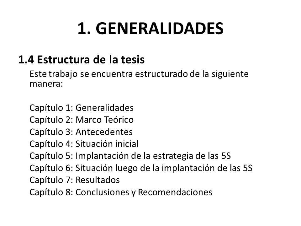 1. GENERALIDADES 1.4 Estructura de la tesis