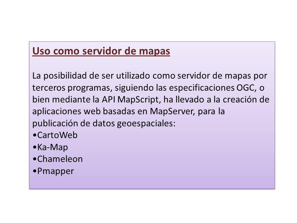 Uso como servidor de mapas