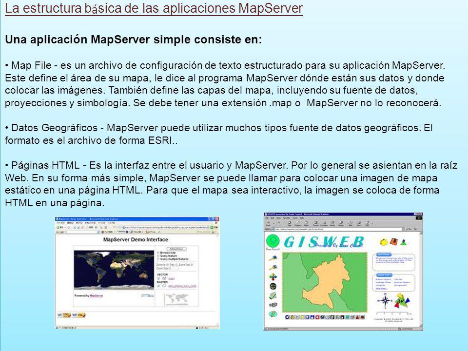 La estructura básica de las aplicaciones MapServer