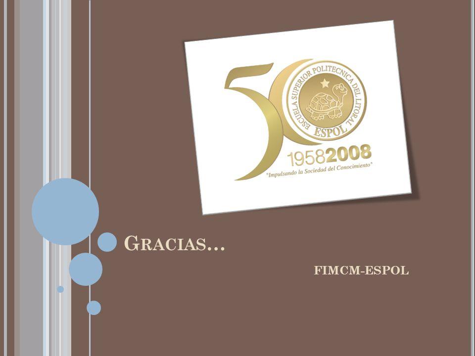 Gracias… FIMCM-ESPOL