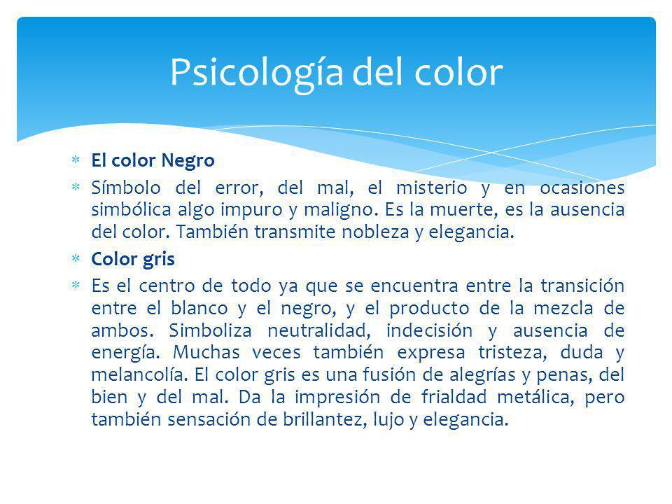 Psicología del color El color Negro
