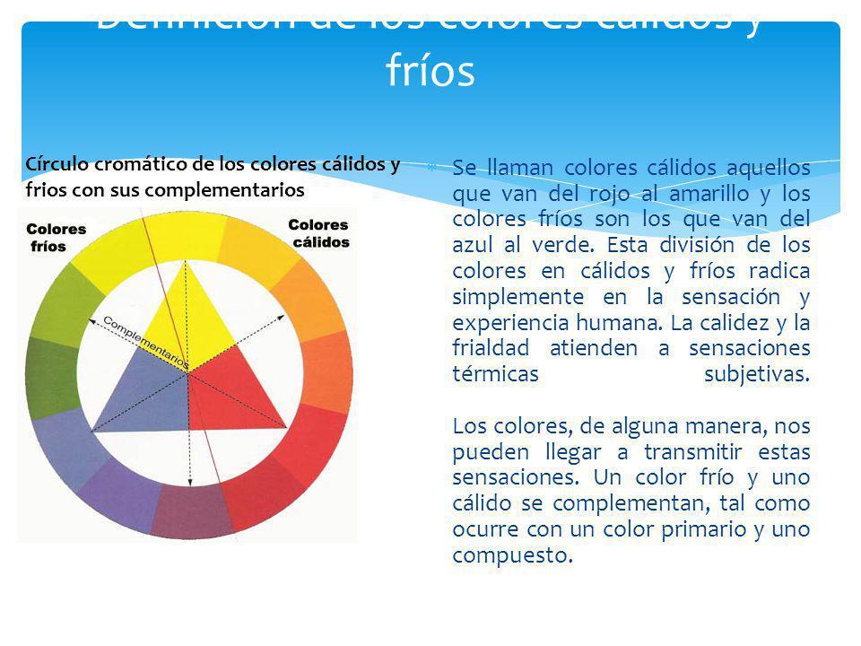 Definición de los colores cálidos y fríos