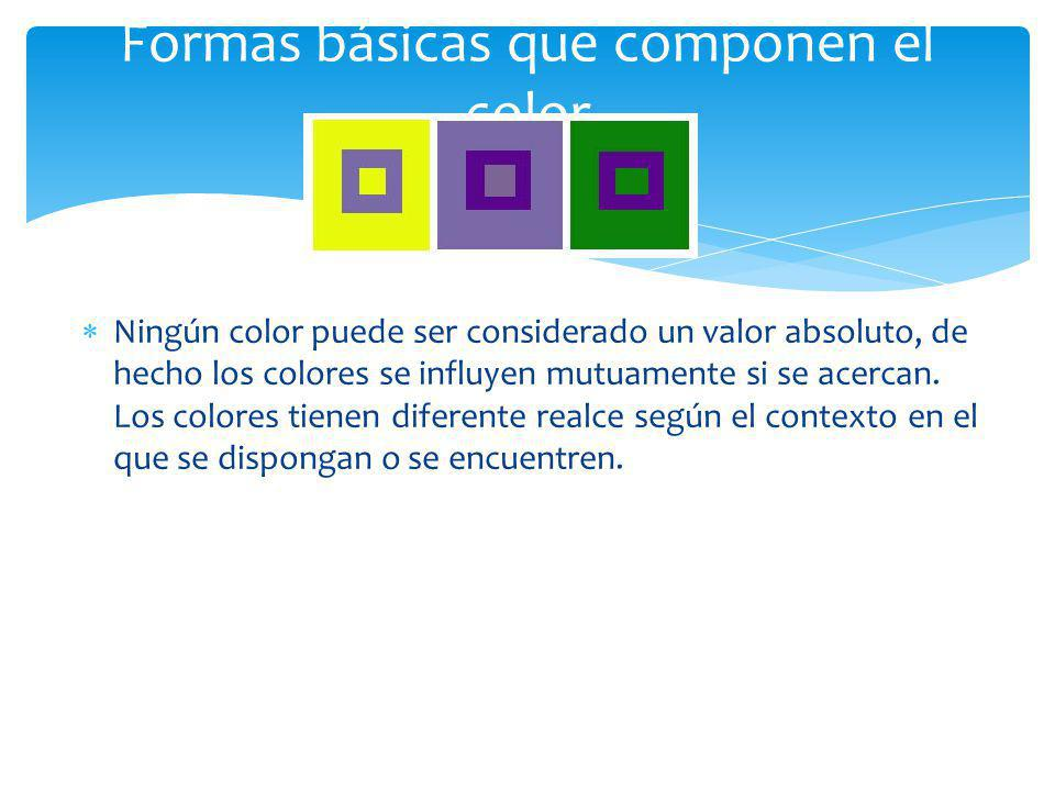 Formas básicas que componen el color