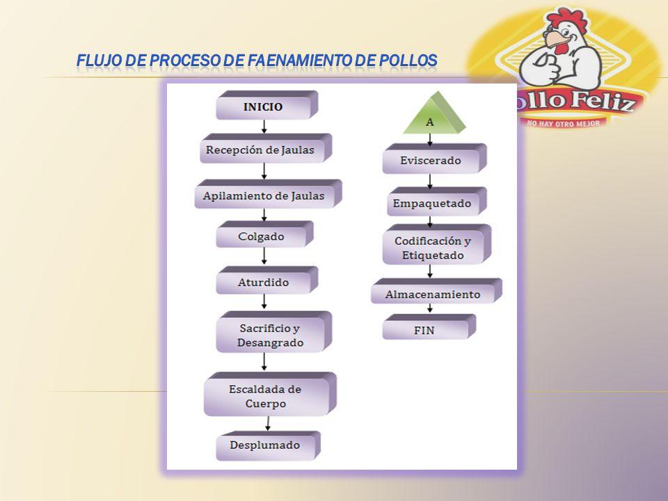 FLUJO DE PROCESO DE FAENAMIENTO DE POLLOS