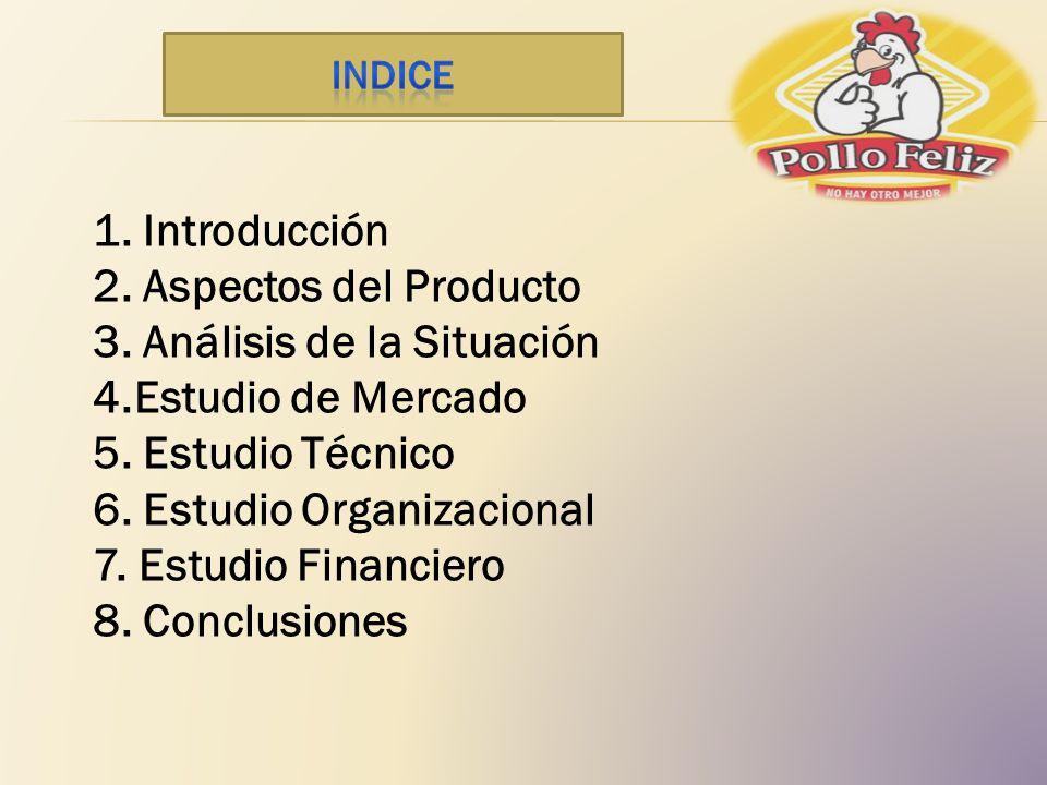 3. Análisis de la Situación 4.Estudio de Mercado 5. Estudio Técnico