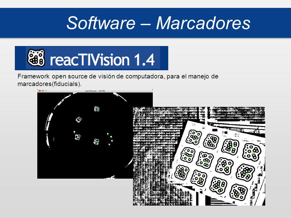 Software – Marcadores Framework open source de visión de computadora, para el manejo de marcadores(fiducials).
