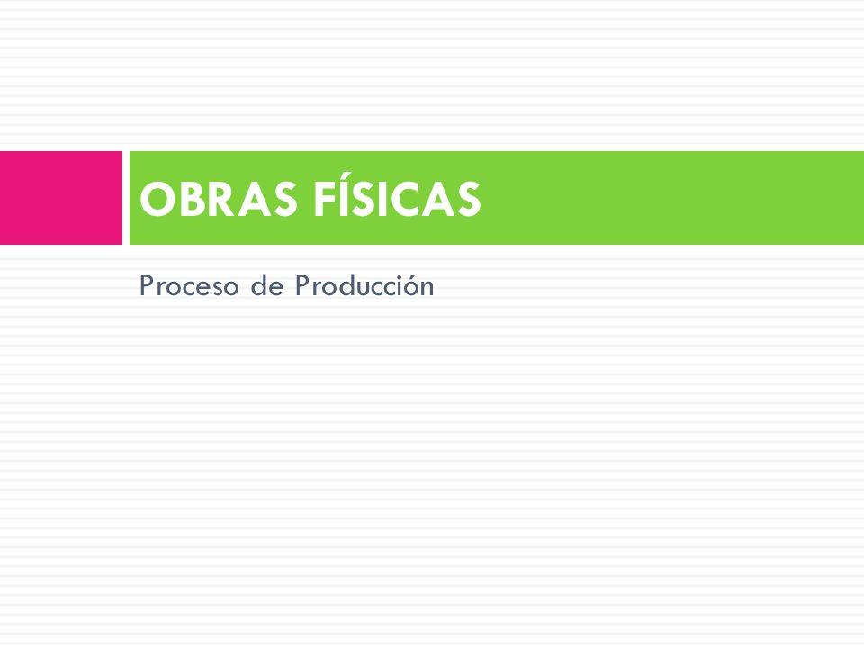 OBRAS FÍSICAS Proceso de Producción