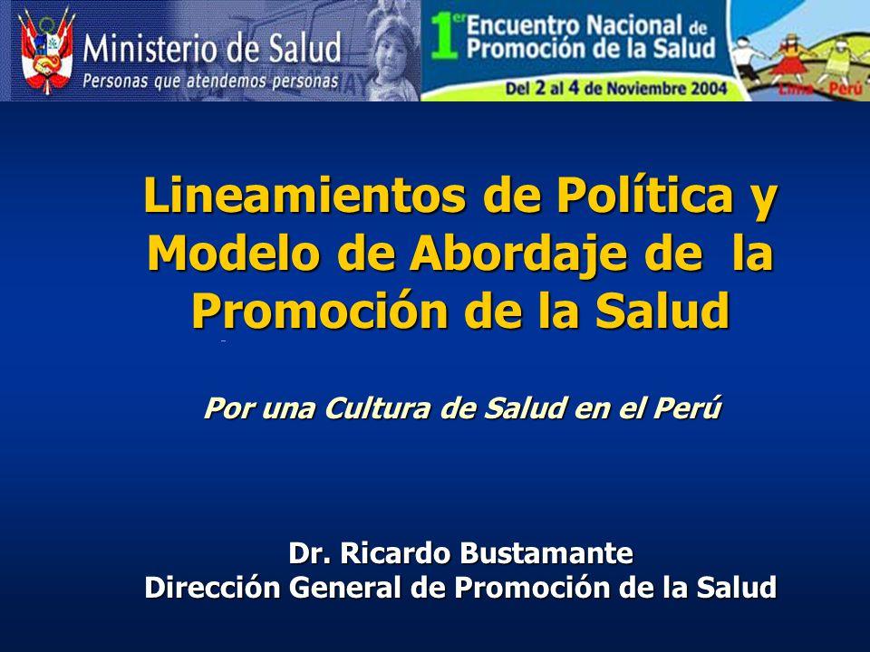 Lineamientos de Política y Modelo de Abordaje de la Promoción de la Salud
