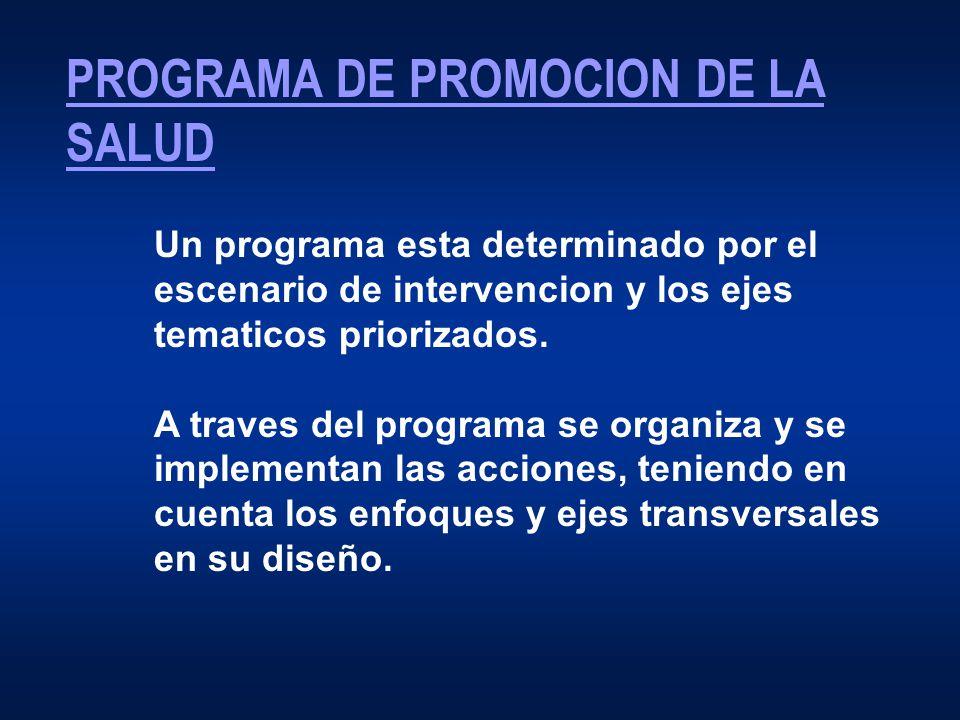 PROGRAMA DE PROMOCION DE LA SALUD