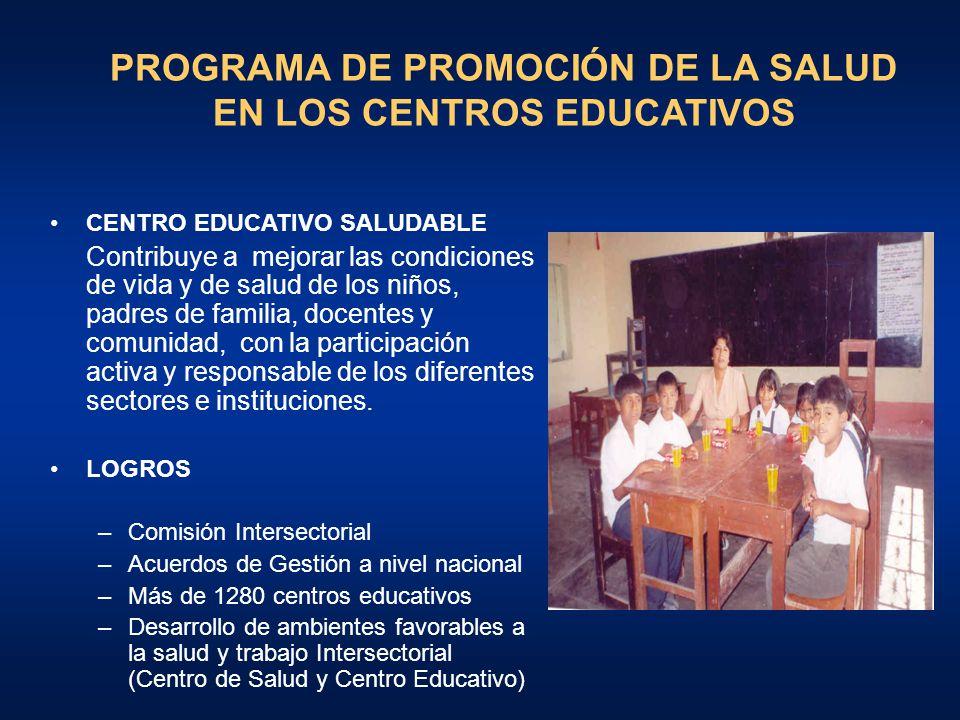 PROGRAMA DE PROMOCIÓN DE LA SALUD EN LOS CENTROS EDUCATIVOS
