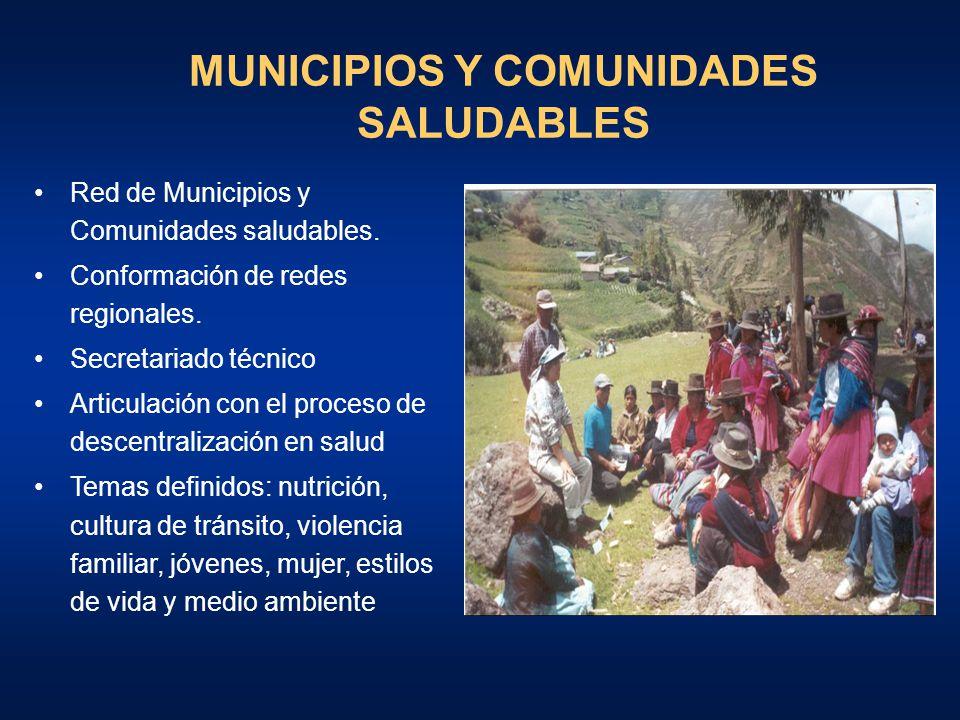 MUNICIPIOS Y COMUNIDADES SALUDABLES