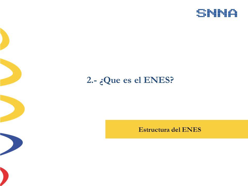 2.- ¿Que es el ENES Estructura del ENES