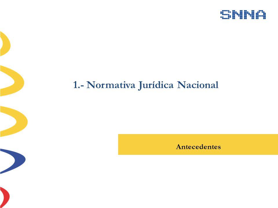 1.- Normativa Jurídica Nacional