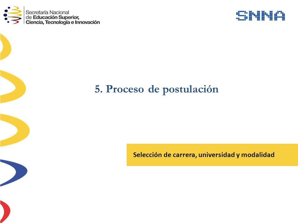 5. Proceso de postulación