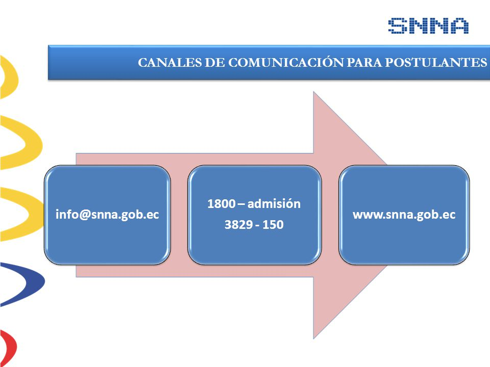 CANALES DE COMUNICACIÓN PARA POSTULANTES
