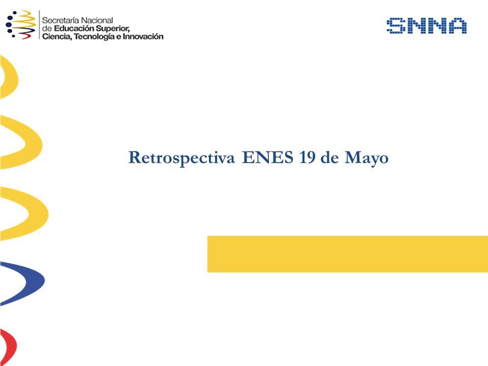 Retrospectiva ENES 19 de Mayo