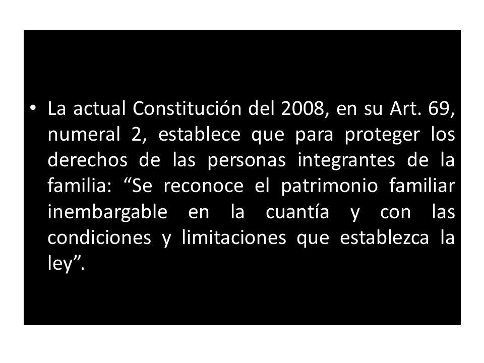 La actual Constitución del 2008, en su Art