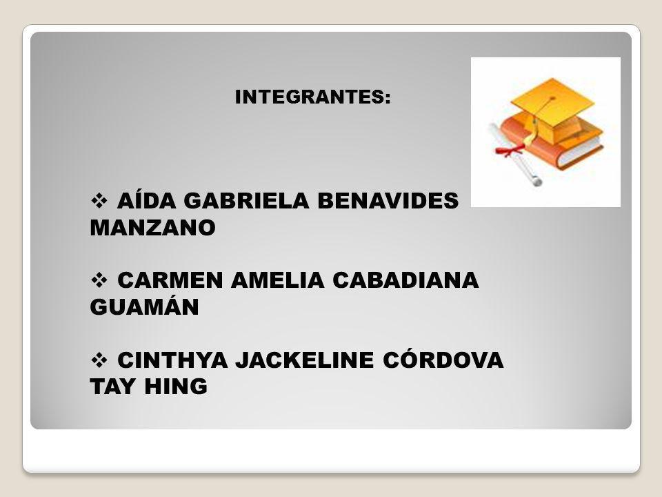 AÍDA GABRIELA BENAVIDES MANZANO