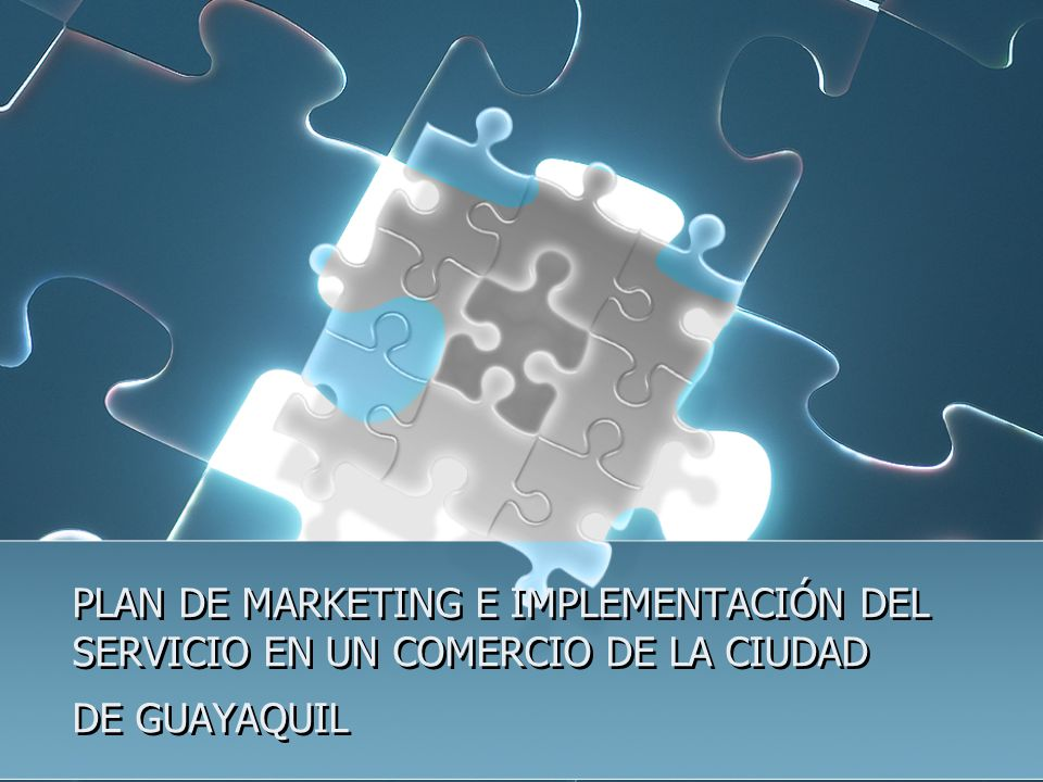 PLAN DE MARKETING E IMPLEMENTACIÓN DEL SERVICIO EN UN COMERCIO DE LA CIUDAD DE GUAYAQUIL